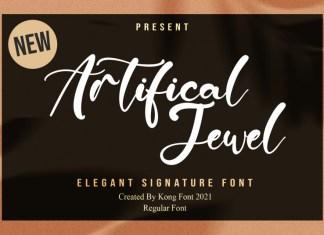 Artificial Jewel Script Font