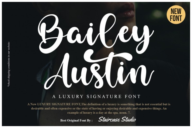Bailey Austin Script Font