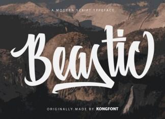Beastic Script Font