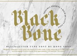 Black Bone Blackletter Font