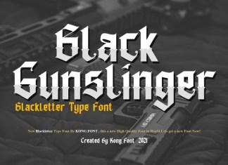Black Gunslinger Blackletter Font