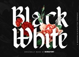 Black White Blackletter Font
