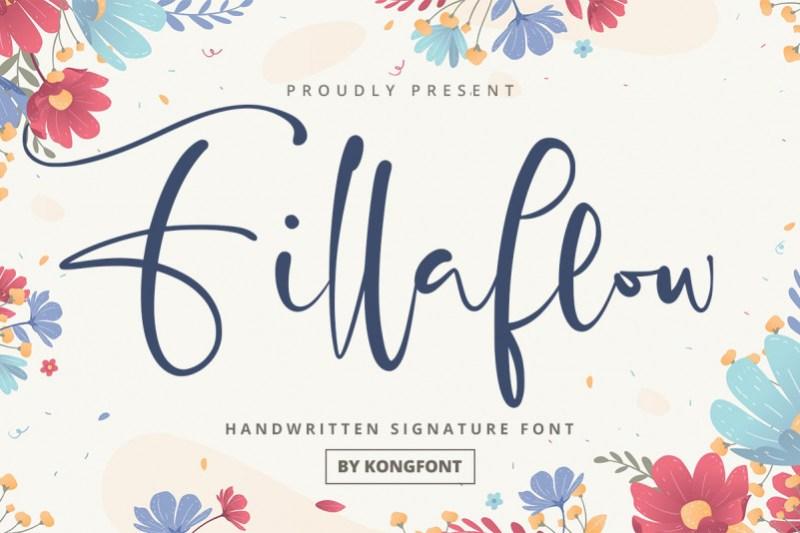 Fillaflow Script Font
