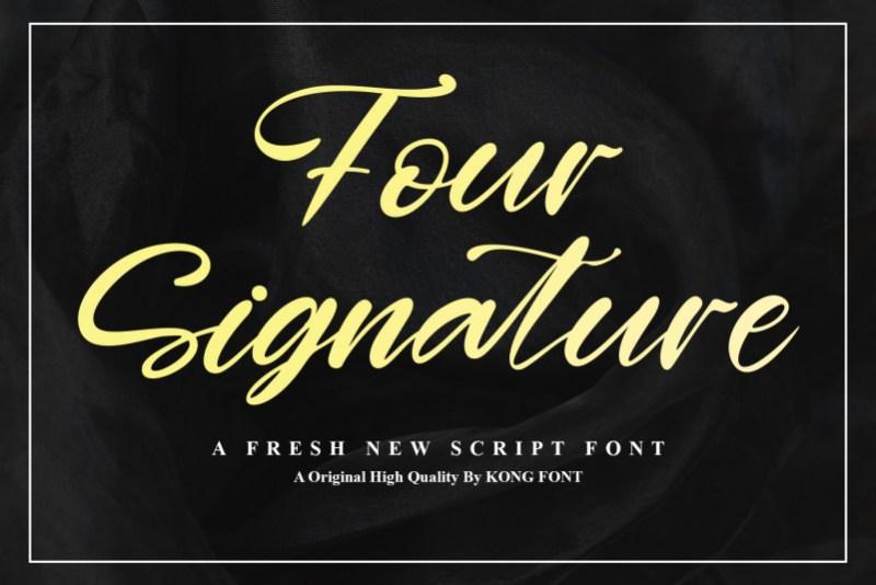 Four Signature Script Font