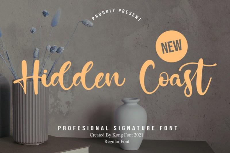 Hidden Coast Script Font