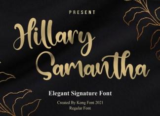 Hillary Samantha Handwritten Font