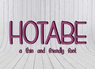 Hotabe Display Font