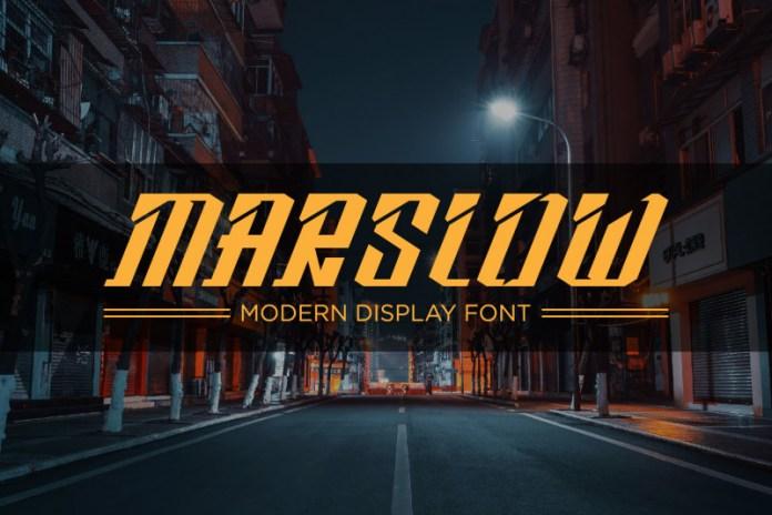 Marslow Display Font