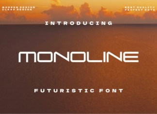 Monoline Display Font
