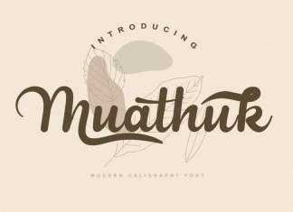 Muathuk Script Font