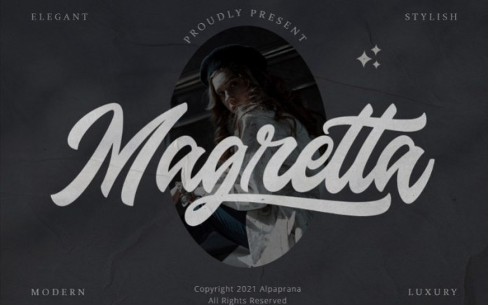 Magretta Script Font