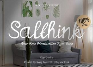 Salthink Handwritten Font