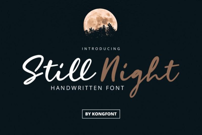 Still Night Script Font
