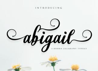Abigail Calligraphy Font