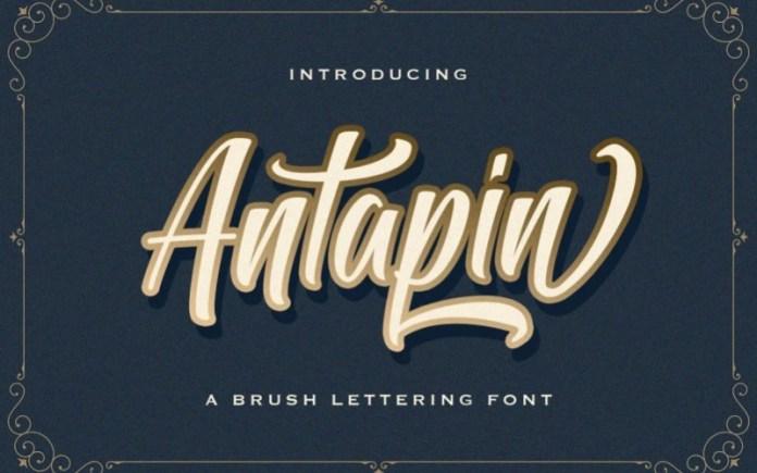 Antapin Script Font