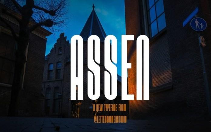 Assen Display Font