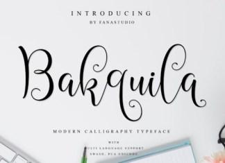 Bakquila Calligraphy Font