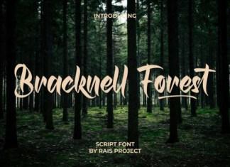 Bracknell Forest Script Font