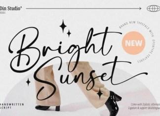 Bright Sunset Script Font