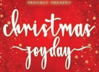 Christmas Joyday Calligraphy Font