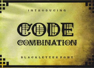 Code Combination Display Font
