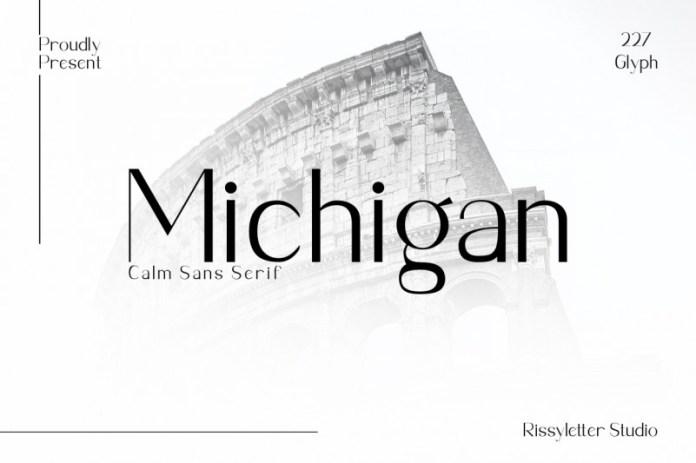 Michigan Sans Serif Font