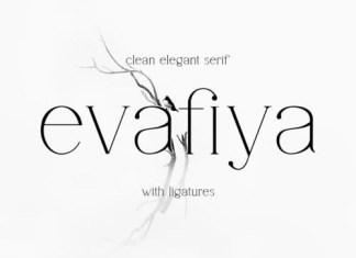 Evafiya Serif Font