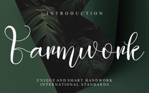 Farmwork Script Font