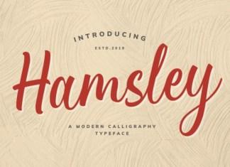 Hamsley Script Font