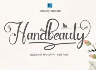 Handbeauty Calligraphy Font