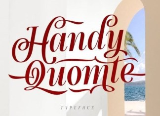 Handy Quomte Script Font