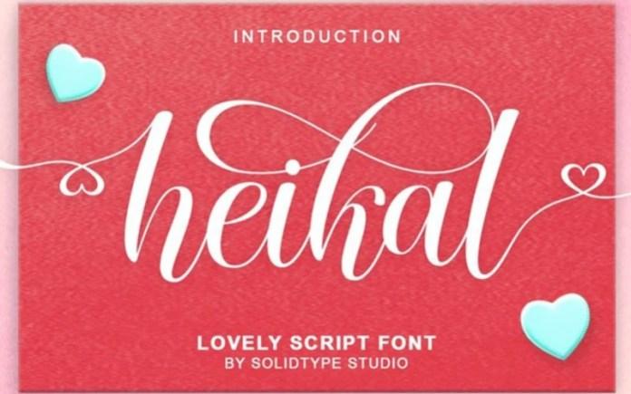 Heikal Calligraphy Font