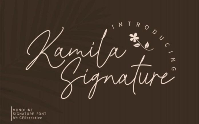 Kamila Handwritten Font