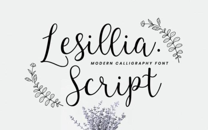 Lesillia Calligraphy Font