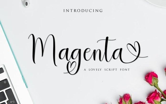 Magenta Calligraphy Font