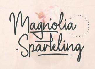 Magnolia Sparkling Handwritten Font