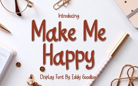 Make Me Happy Display Font