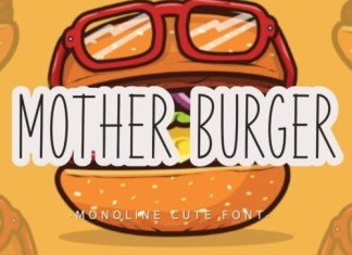 Mother Burger Display Font