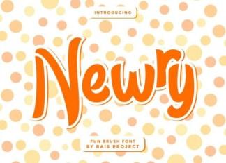 Newry Brush Font