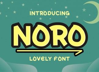 Noro Display Font