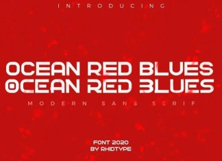 Ocean Red Blues Sans Serif Font