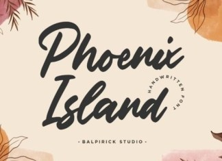 Phoenix Island Script Font