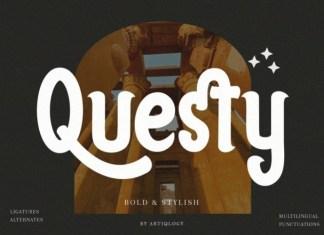 Questy Display Font