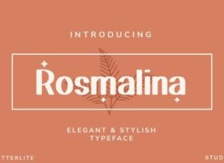 Rosmalina Display Font