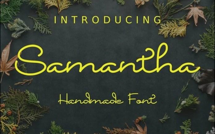 Samantha Handwritten Font