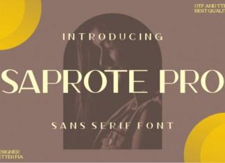 Saprote Pro Sans Serif Font