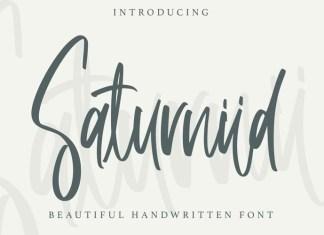 Saturniid Script Font