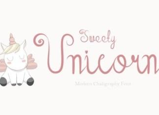 Sweety Unicorn Script Font