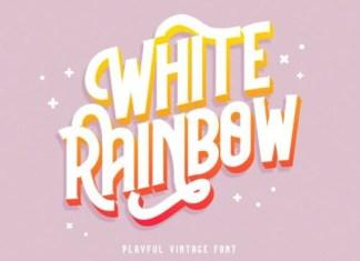 White Rainbow Display Font
