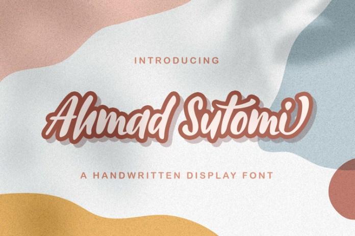 Ahmad Sutomi Script Font